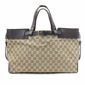 Auth Gucci Canvas Tote Bag #1002G20